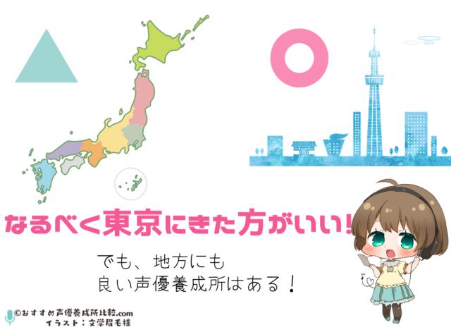 なるべく東京の声優養成所に通った方が良い!